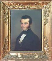 PORTRAIT DE GENTLEMAN. HUILE SUR METAL. STYLE EMPIRE. JOSEPH TASSY. FRANCE. 1845