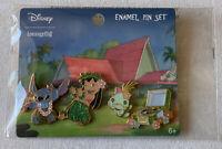NEW Loungefly Disney Hula Stitch Enamel 4 Pin Set Lilo and Stitch