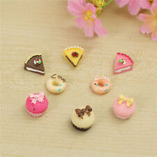 8 pcs/set Dollhouse Miniature Bakery Shop Kitchen Food Cake Donuts Cupcake 1:12