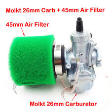 Molkt 26mm Carby 45mm Air Filter For Pit Dirt Bike 140cc 150 160cc SSR Thumpstar
