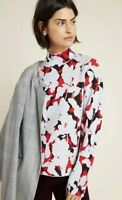 Anthropologie Lizzie Mock Neck Sweater Size L Large Floral Pullover
