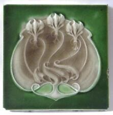 Antique Art Nouveau Tile by Henry Richards, c1906/8