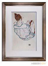 "Egon SCHIELE Lithograph SIGNED #'ed LIMITED Ed. 100 ""Seated Woman"" +Custom FRAME"
