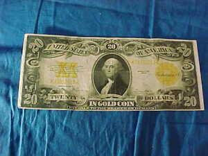 Orig 1922 Series US 20 Dollar GOLD CERTIFICATE BILL