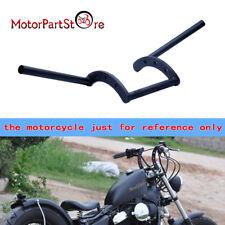 "noir guidon z bar moto Bobber Chopper handelbar 22mm 7/8"" Pr Harley Honda Suzuki"