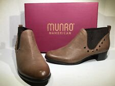 MUNRO Austin Womens Size 10.5 Narrow Brown Distressed Ankle Boots Shoes ZI-335