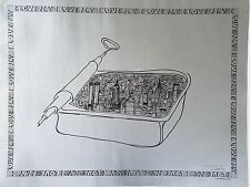 """1978 RARE Vintage """"I Love NY"""" Anchovy Can Lithographic Poster in Silver, Signed"""