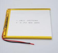 3.7V 3000 mAh 357090 Polymer Li ion battery Lipo pack For GPS DVD ipod Tablet PC