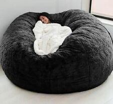 Giant Fur Bean Bag Cover Soft Fluffy Fur Portable Living Room Sofa Bed180cm*90cm