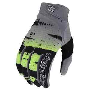 Troy Lee Designs AIR Gloves - Brushed Black / Glo Green - Motocross, BMX, MTB