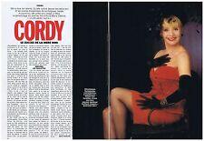PUBLICITE ADVERTISING 094 1990 ANNIE CORDY le succés de la mère Nini (2 pages)