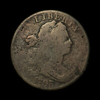 1798/7 DRAPED BUST 1C LARGE CENT ** WIDE OVERDATE - SHELDON 152 Lot#X256