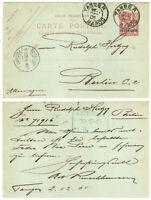 1905 Morocco Postal Stationery France Maroc Tangier to Berkin Germany Postcard
