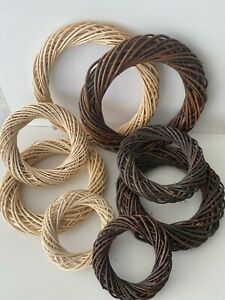 Willow Wreaths - Natural & Peeled - Various Sizes - 15cm to 30cm