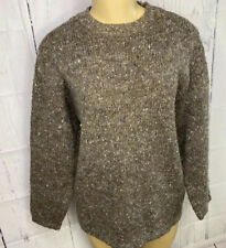 Limited Sweater Pullover Women Sz S Brown London Paris Angora Wool Blend