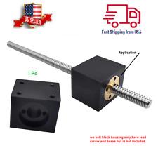 T8 Lead Screw Nut Housing 3d Printer T8 Trapezoidal Lead Screw Mount Black