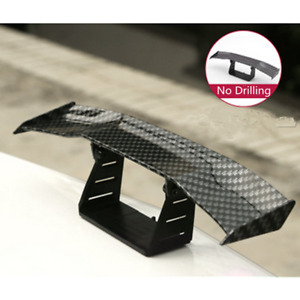 17cm Plastic Carbon Fiber Look Car Tiny Mini Rear Tail Spoiler Wing Decoration