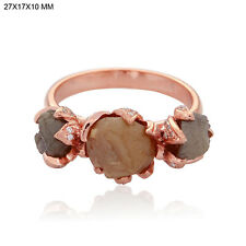 18k Solid Rose Gold 4.95ct Diamond Handmade Ring Designer Jewelry Gift For Girls