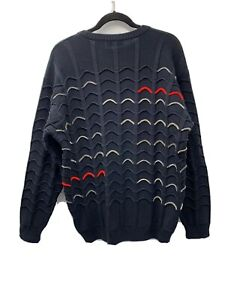 Carlo Colucci, Googi Textured Lite Soft Wool Germany Crew Sweater Size 56/5