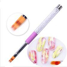Diamantes manija gradiente cepillo pincel dibujo UV Gel pluma pintura Arte uñas