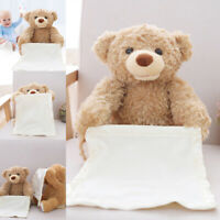Peek a Boo Talking Teddy Bear Animated Talking Bear Plush Toy Birthday Gift 30cm