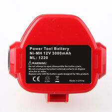 Ni-MH Battery 12V 3000mAh for MAKITA  1222 1233 1234 192681-5 1220 1202A 	1200