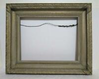 vintage ornate gesso hand carved painting picture print wooden frame wood