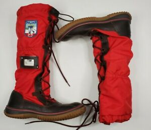 Pajar Women's 39 Sz 8 Waterproof Snow Boots Red Brown Canada MISSING TOGGLE