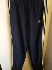 Adidas Blue Athletic Training Gym Workout Track Pants Mens Large