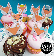 Top Pop Fox 8 zorros Comestible Cupcake Toppers | Pastel | Decoraciones De Cumpleaños