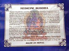 Tibetan Prayer Flags Medicine Buddha Mantra Healing 1 String 10 Flags 24 x 20 cm