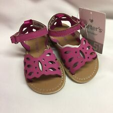 Carters Toddlers Sandals Size 5M Zaha Dark Pink