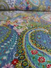 Indian Handmade Paisley Print Queen Kantha Bedspread Kantha Quilt Kantha Work