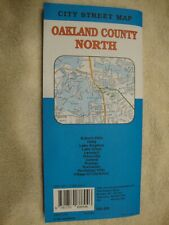 AAA OAKLAND COUNTY NORTH / SOUTH EAST MICHIGAN Travel Road Map Vacation Roadmap
