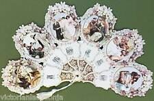 Wedding Couple Victorian Paper Fan Greeting Card A Token of Love Card