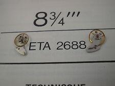 ETA 2640, 2650, 2688 new balance wheel & bridge. 21,600 ½ beats per hour. Swiss