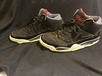 Nike Air Flight Classic Black / Red Sneakers 414967-005 Size 9 Pre Owned !!!
