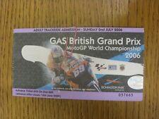 02/07/2006 billet: SUPERBIKE British Grand Prix [at Donnington] adulte ticket. Th