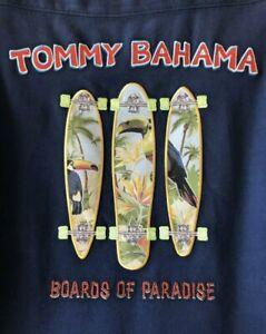 Tommy Bahama Panelback Camp Shirt Boards Of Paradise Copyrighted Men's XL NWOT