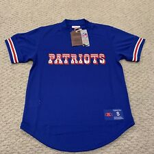 New England Patriots Mitchell & Ness Throwback Baseball Fit Jersey NFL NWT Small