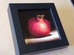 Little Pomegranate Original still life Oil Painting, Jane Palmer Art