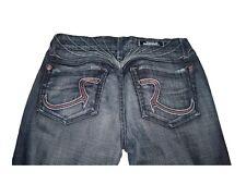 Women Ladies Rock & Republic Winger Jeans Flare Dark Wash Size 27 EUC