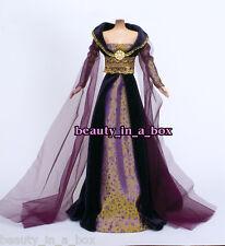 European Renaissance Royal Purple Gown Fashion for Barbie Doll