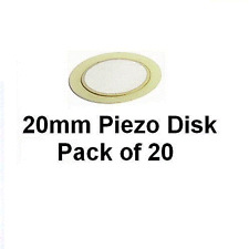 Piezo Transducer Sounder Sensor Disk 20mm Pack 20