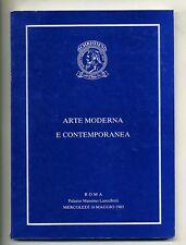 ARTE MODERNA E CONTEMPORANEA # Roma 1983 Christie's