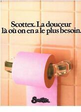 PUBLICITE ADVERTISING   1982   SCOTTEX   PAPIER TOILETTE