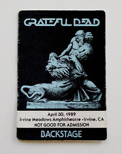 Grateful Dead Backstage Pass The Lion vs. Samson 4/30/1989 Irvine Meadows CA