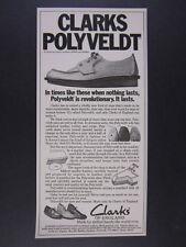 1976 Clarks of England Polyveldt Shoes vintage print Ad
