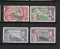 1937 King George VI SG36 to SG39 Coronation Set Used SOUTHERN RHODESIA