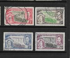 1937 King George Vi Sg36 to Sg39 Coronation Set Used Southern Rhodesia